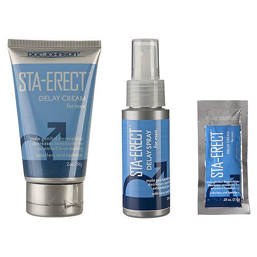 Doc Johnson Sta-Erect For Men-Cream Sachet