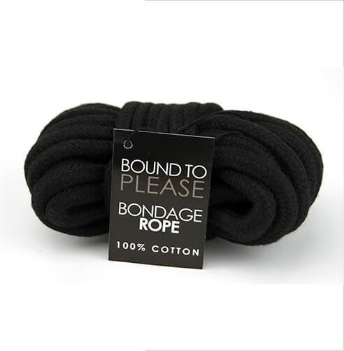 Bound to Please Bondage Rope Black
