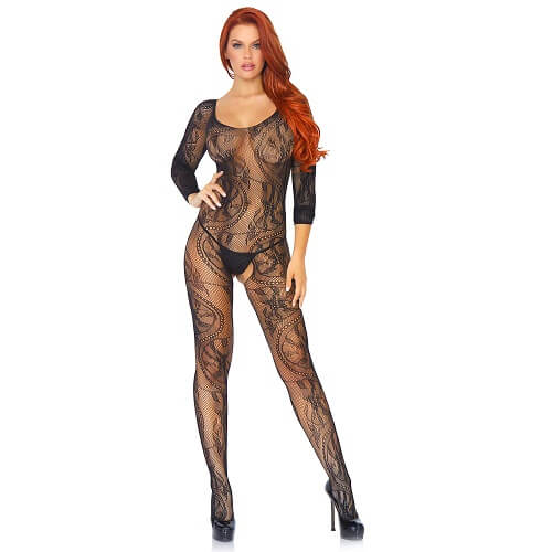 Leg Avenue Swirl Lace Bodystocking