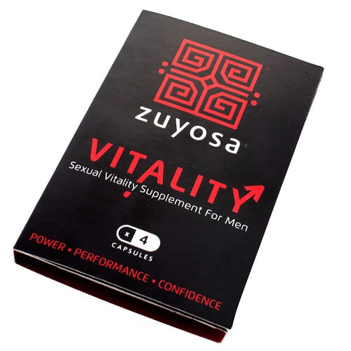Zuyosa Sexual Vitality Supplement for Men 4 Pack