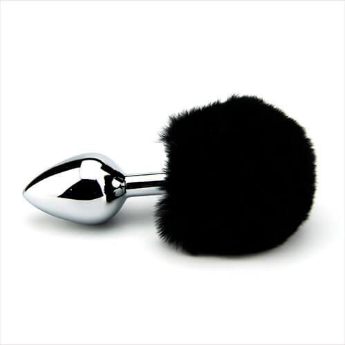 Furry Fantasy Black Bunny Tail Butt Plug