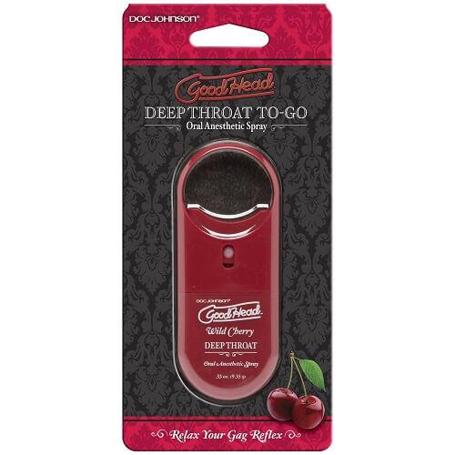 Doc Johnson GoodHead To-Go - Deep Throat Spray - Wild Cherry