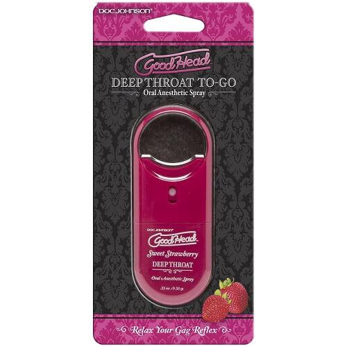 Doc Johnson GoodHead To-Go - Deep Throat Spray - Sweet Strawberry