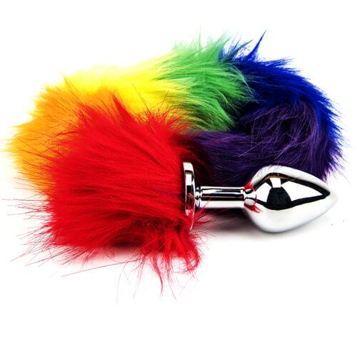 Furry Fantasy Rainbow Tail Butt Plug