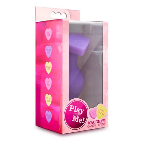 Candy Heart Butt Plug Do Me Now Purple