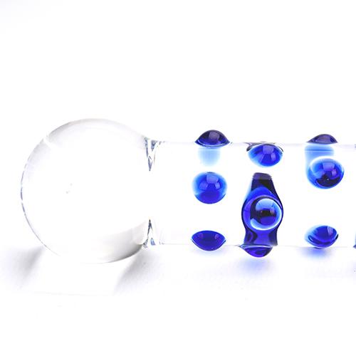 Spectrum Nubby Textured Glass Dildo