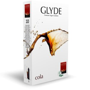 Glyde Ultra Cola Flavour Vegan Condoms 10 Pack