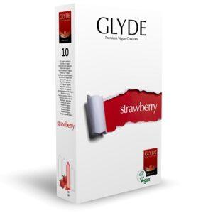 Glyde Ultra Strawberry Flavour Vegan Condoms 10 Pack