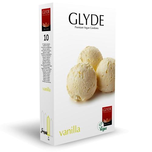 Glyde Ultra Vanilla Flavour Vegan Condoms 10 Pack