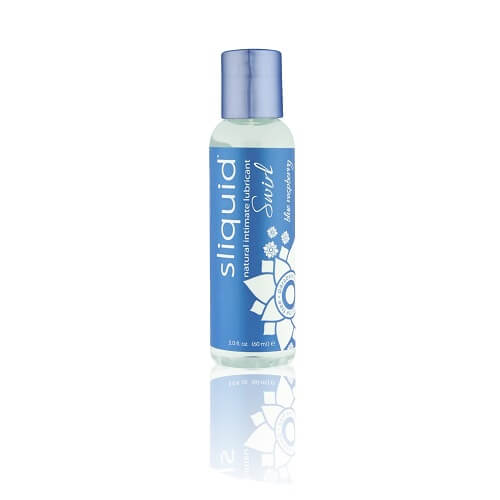 Sliquid Naturals Swirl Flavoured Lubricants-Blue Raspberry 59ml