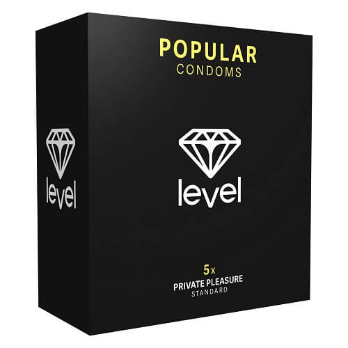 Level Popular Condoms 5 Pack