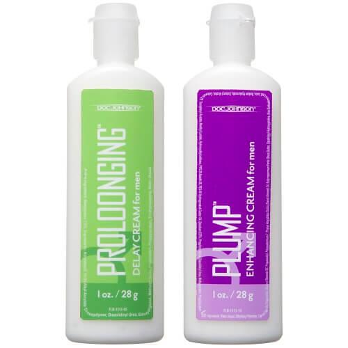 Doc Johnson Prolong and Plump Enhancement Cream Pack