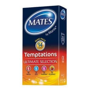 Mates Temptations Condoms 14 Pack