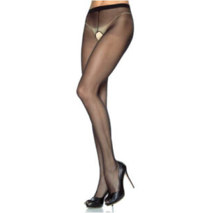 Leg Avenue Plus Size Crotchless Sheer Pantyhose