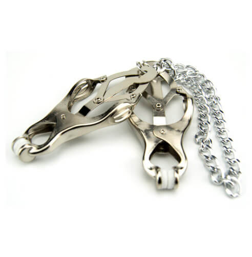 Bound to Please Squeezer Teaser Clover Nipple Clamps with Chain