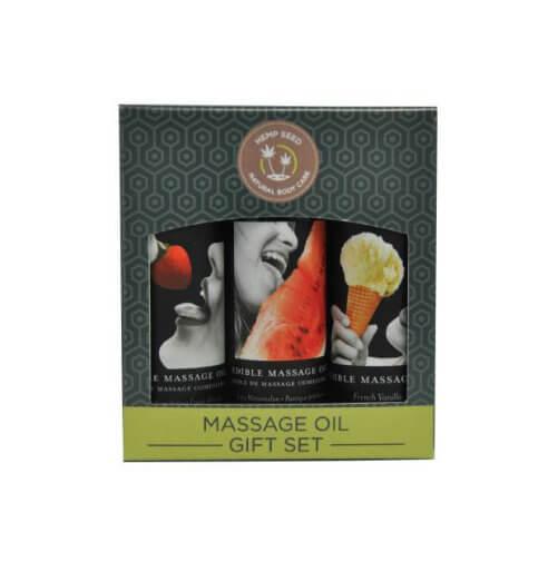 Earthly Body Edible Massage Oil Gift Set Box