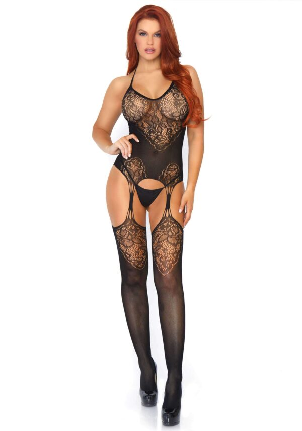 Leg Avenue Lace Suspender Bodystocking One Size