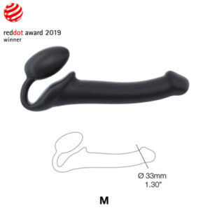 Strap-on-Me Semi-Realistic Bendable Strap-On Black Medium